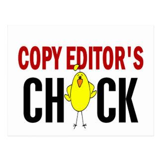 El polluelo del editor postales