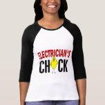 El polluelo del electricista camisetas