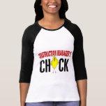 El polluelo del encargado de la construcción camiseta