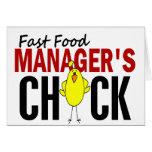 El polluelo del encargado de los alimentos de prep felicitación