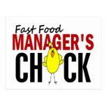 El polluelo del encargado de los alimentos de prep tarjetas postales