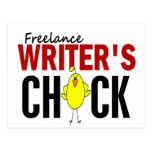 El polluelo del escritor free lance postal