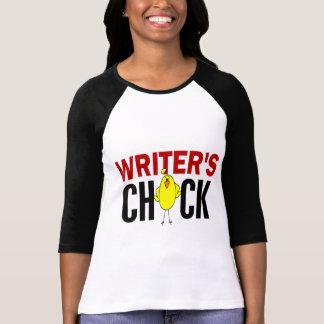 El polluelo del escritor camiseta