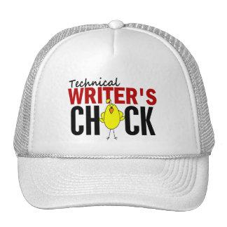 El polluelo del escritor técnico gorras de camionero