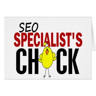 El polluelo del especialista de SEO Felicitaciones