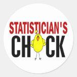 El polluelo del estadístico pegatinas redondas