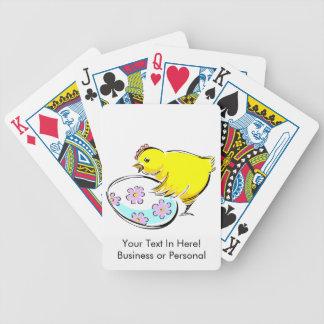 El polluelo del gallo floreció el huevo design.png baraja de cartas