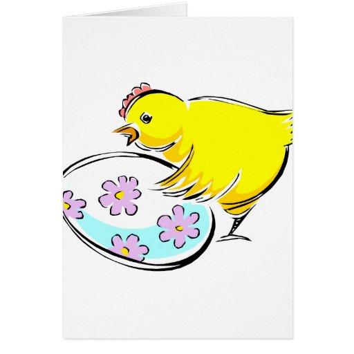 El polluelo del gallo floreció el huevo design.png tarjeta pequeña