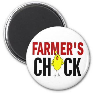 El polluelo del granjero imán redondo 5 cm