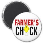 El polluelo del granjero imán para frigorifico