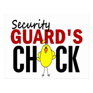 El polluelo del guardia de seguridad tarjeta postal