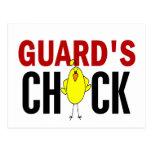 El polluelo del guardia tarjetas postales