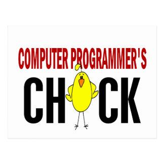 El polluelo del informático tarjetas postales