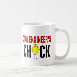 El polluelo del ingeniero civil taza de café