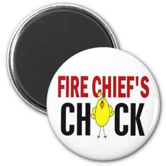 El polluelo del jefe de bomberos imán redondo 5 cm