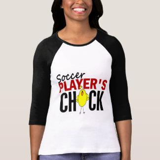 El polluelo del jugador de fútbol playeras