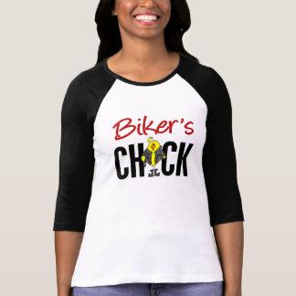 El polluelo del motorista camiseta