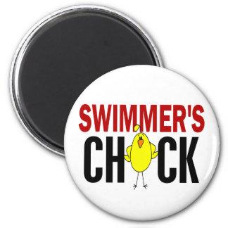 El polluelo del nadador imán redondo 5 cm