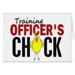 El polluelo del oficial del entrenamiento felicitaciones