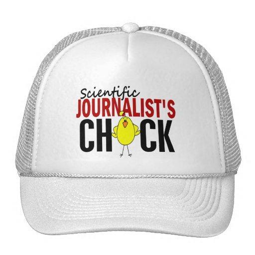 El polluelo del periodista científico gorro de camionero