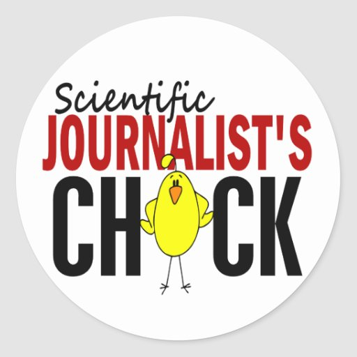 El polluelo del periodista científico pegatinas redondas