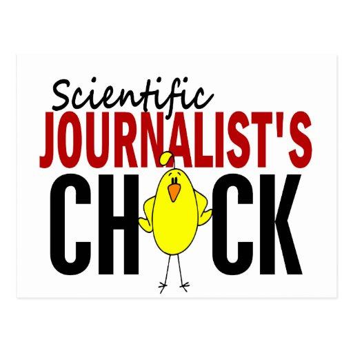 El polluelo del periodista científico tarjeta postal
