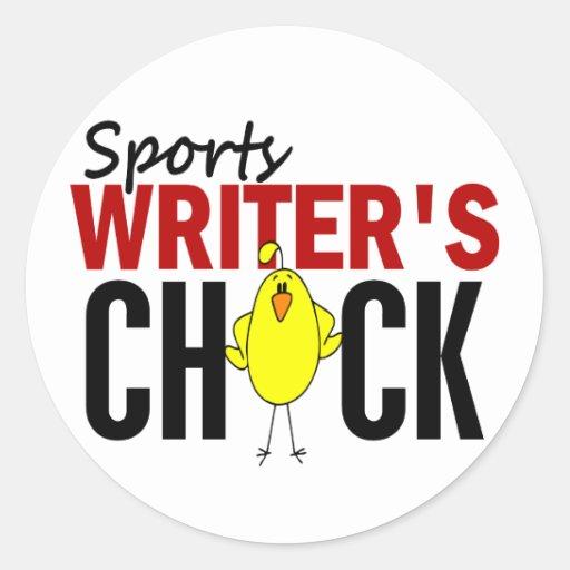 El polluelo del periodista deportivo etiqueta redonda