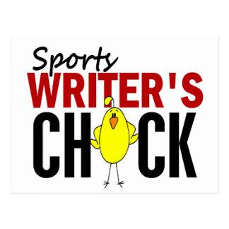 El polluelo del periodista deportivo tarjetas postales