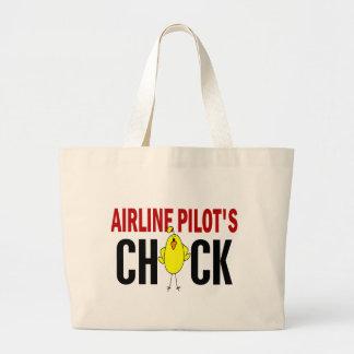 El polluelo del piloto de la línea aérea bolsas de mano