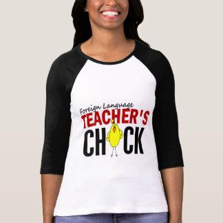 El polluelo del profesor del idioma extranjero playera