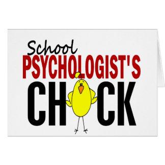 El polluelo del psicólogo de la escuela tarjeta de felicitación