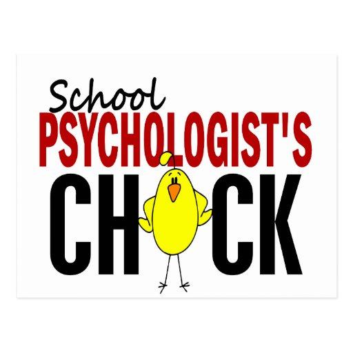 El polluelo del psicólogo de la escuela tarjeta postal
