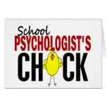El polluelo del psicólogo de la escuela tarjetón