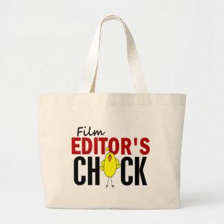 El polluelo del redactor de la película bolsas