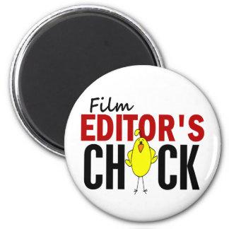 El polluelo del redactor de la película imán redondo 5 cm