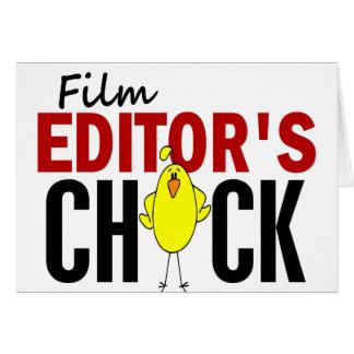El polluelo del redactor de la película tarjeta de felicitación