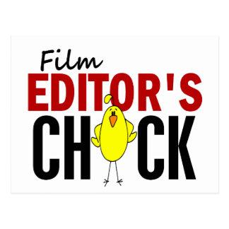 El polluelo del redactor de la película tarjeta postal