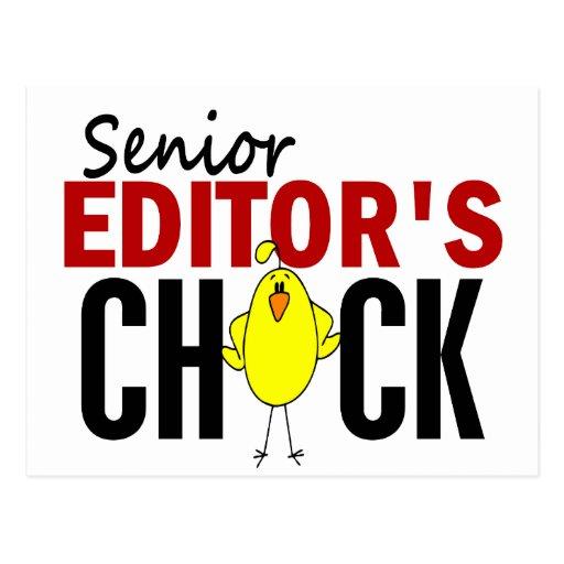 El polluelo del redactor mayor tarjetas postales
