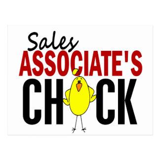 El polluelo del socio de ventas tarjetas postales