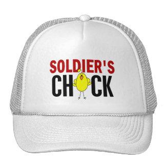 El polluelo del soldado gorro