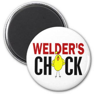El polluelo del soldador imán redondo 5 cm