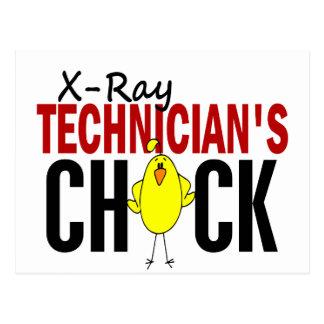 El polluelo del técnico de la radiografía postales