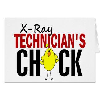 El polluelo del técnico de la radiografía felicitacion