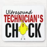 El polluelo del técnico del ultrasonido alfombrilla de ratones