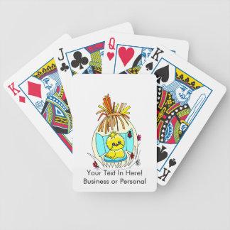el polluelo en pascua envolvió la mariquita de la  baraja cartas de poker