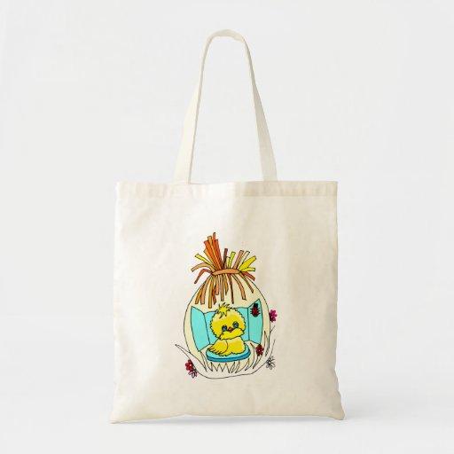 el polluelo en pascua envolvió mariquitas de la ce bolsa