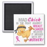 El polluelo enojado ensució con el cáncer de pecho imán