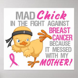 El polluelo enojado ensució con el cáncer de pecho poster