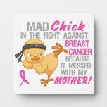 El polluelo enojado ensució con el cáncer de pecho placas de plastico