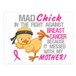 El polluelo enojado ensució con el cáncer de pecho postal